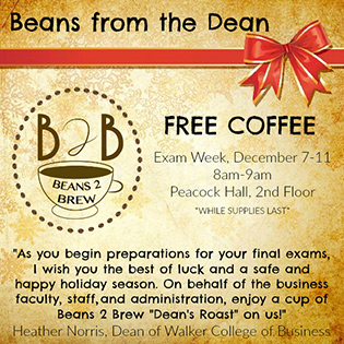 Beans from the Dean announcement
