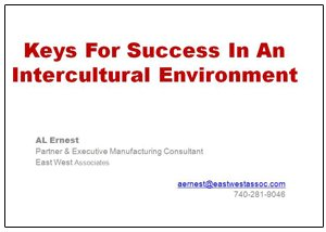 Keys for Success in an Intercultural Environment Presentation graphic