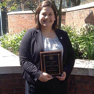 Emily Haas, 2015 Ronny L. Brooks award winner