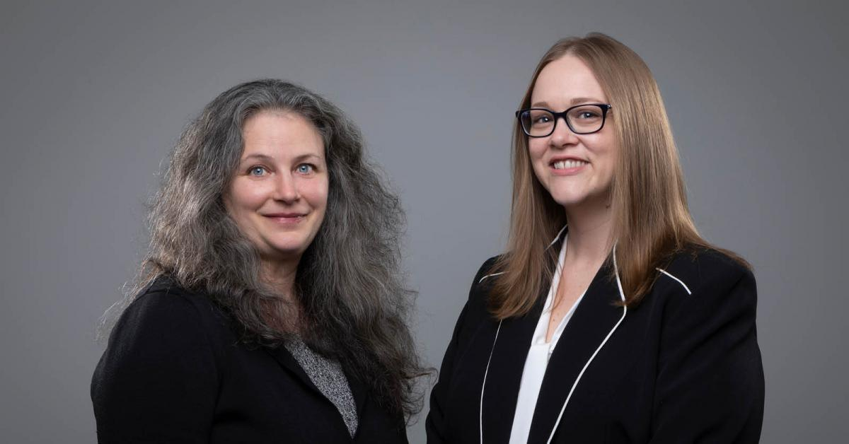 Dr. Lorilee Medders, left, and Dr. Brandy Hadley in the Department of Finance, Banking and Insurance are developing a pilot program in financial literacy for female students at Appalachian as part of their Innovation Scholars project. Photo by Marie Freeman