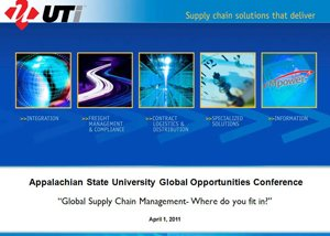 Global Supply Chain Management: Where do you fit in? presentation graphic