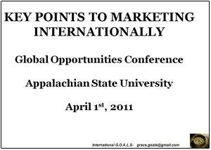 Key Points to Marketing Internationally Presentation graphic