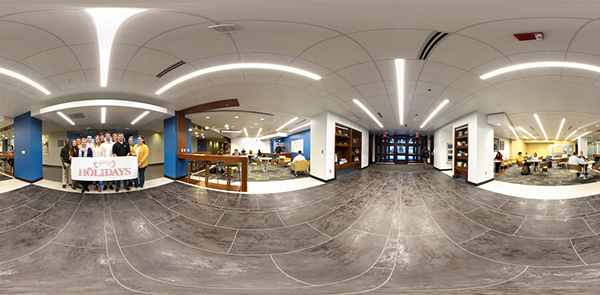 panorama of Boyles Lobby and Broyhill Commons