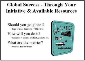 Global Success-Through Your initiative and Available Resources Presentation Graphic