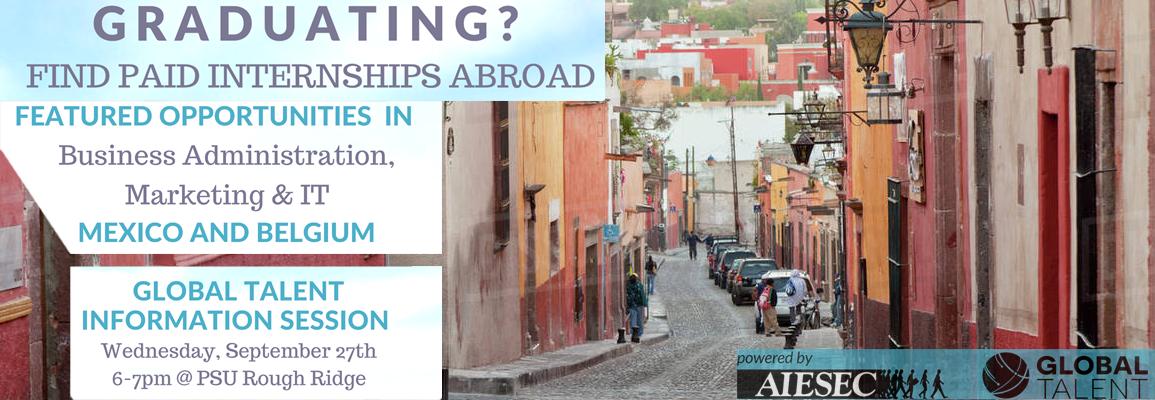 International Internship Opportunities - Mexico and Belgium