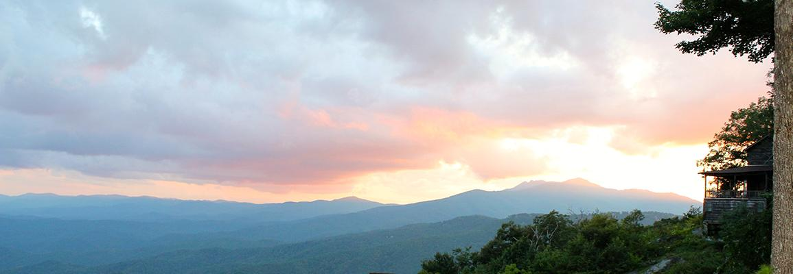 Blue Ridge Mountains from Blowing Rock, NC