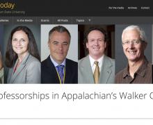 8 earn professorships in Appalachian's Walker College of Business