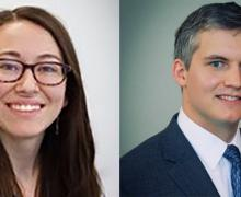 Erin Brown, left, and Brendan Sullivan named to Cratis D. Williams Society