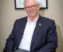 Insurance expert E. Stuart Powell Jr., executive-in-residence in the Walker College of Business at Appalachian State University. Photo by Marie Freeman