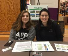 "Appalachian State University Executive Impact and Walker Fellows members helped deliver ""The Reality of Money"" workshop at Ashe County High School on April 12, 2019"