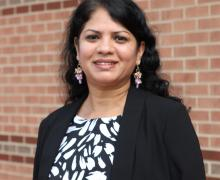 Lakshmi Iyer on the campus of Appalachian State University