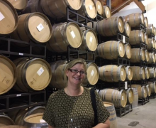 Appalachian State University Marketing Professor Pia Albinsson while in Sonoma, CA, while attending the International Conference of the Academy of Wine Business Research