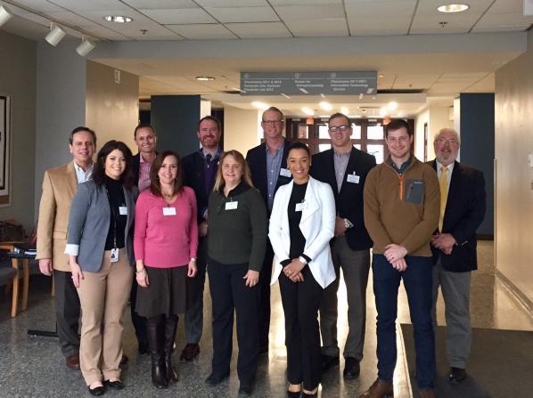 Appalachian State University Sales Advisory Board Members in Peacock Hall
