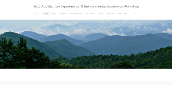 2016 Appalachian Experimental and Environmental Economics Workshop