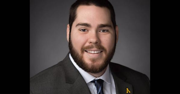 Mark Janke '18, an Appalachian alumnus and material damage claims representative for National General Insurance. Photo submitted