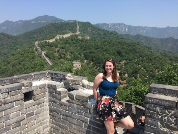 Holland Fellow and Wilson Scholar Madeline Hamiter in China