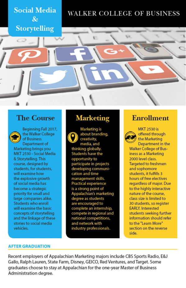 Walker College adds course in storytelling and social media to dynamic curriculum