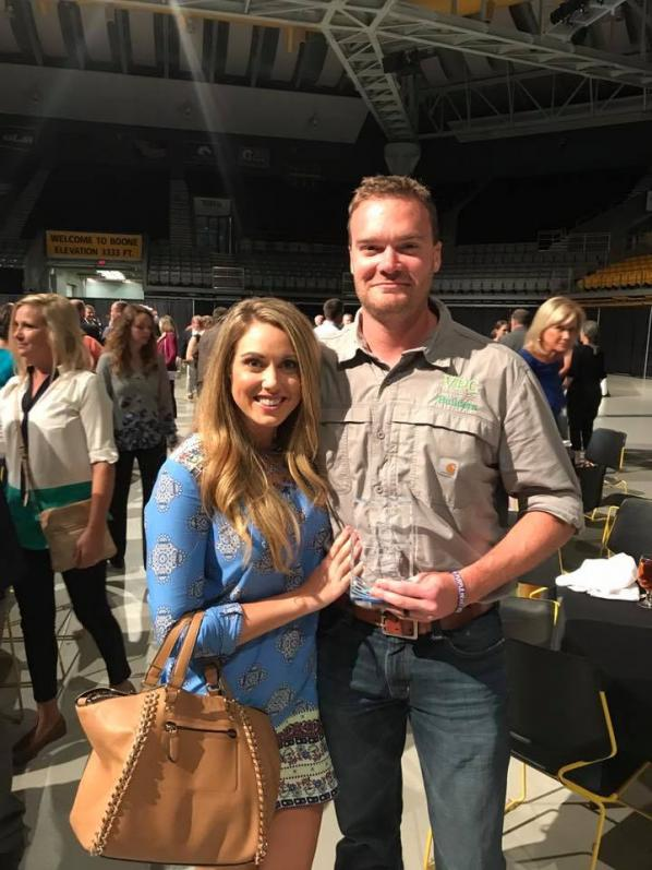 VPC Builders President Matt Vincent and wife Casey (Photo: Boone Chamber of Commerce)