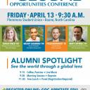 Alumni from Appalachian State University's Walker College of Business will speak at the 10th annual Global Opportunities Conference on Friday, April 13 from 9:30 am to 2:00 pm in the Plemmons Student Union on Appalachian State University's campus.
