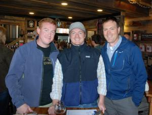 Photo by Ken Ketchie, hcpress.com. Local outdoor enthusiasts (from left) Jason Berry, Bill Ireland and Russ Hiatt are pictured at Appalachian Mountain Brewery.
