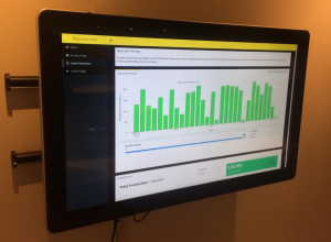 Photo of Energy Dashboard in Peacock Hall