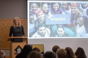 Enactus CEO Rachael Jarosh at Appalachian State University's Entrepreneur Summit