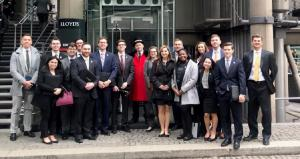 Appalachian Risk Management and Insurance students at Lloyd's of London