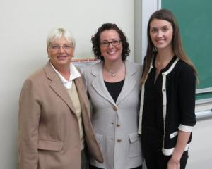 From left: Brantley Center Faculty Director Karen Epermanis, Risk Manager in Residence Robin Joines, and GIS president Cecilia Yanez at Appalachian State University