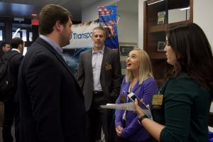 Graduate students at Appalachian's first-ever graduate career fair for business students