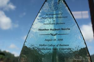 Norris earns inaugural Green-E Award