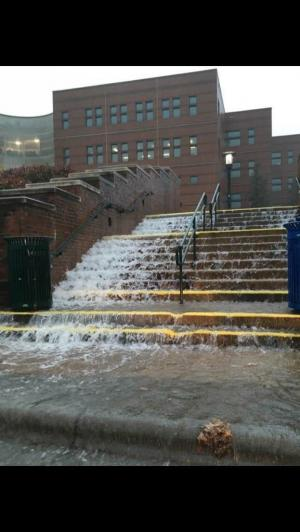 In Pictures: October 23, 2017 Flooding at Appalachian State University's Peacock Hall (Samantha Fuentes)