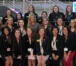 Female business students participate in two-day professional experience and celebration