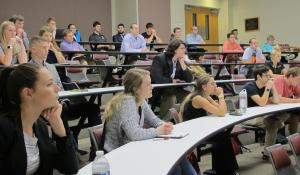 More than 50 attended the 2017 internship panel on Appalachian's campus September 26.