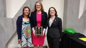 Hollie Brown, center, is one of four Walker College students who were honored during Appalachian's Leadership & Legacy Awards Ceremony