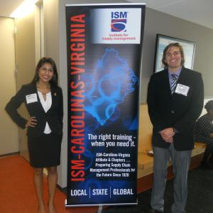 Itzal Zavala and Chris Anderson at the Institute of Supply Management Case Competition