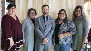 Pictured, from left, are Vivian Meadows, Kim Zahller, Jesse Mazza, Sierra Abee and Chelsea Ledford.