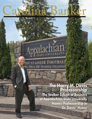 Harry Davis featured in Carolina Banker, professorship to be named in his honor