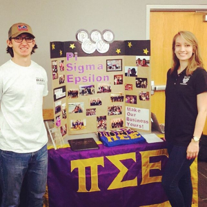 "Image courtesy Instagram @pse_appstate ""Come check out Pi Sigma Epsilon, the nation's only fraternity specializing in sales and marketing."""