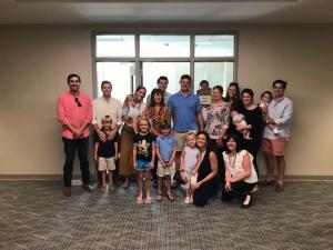 The family of Andy Thomas at the Leon Levine Hall Grand Opening. Photo submitted.