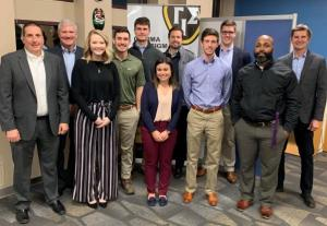 Pictured from left are Wesley Riley, Jeff Haney, Devon Goolsby, Morgan Mullis, Nathaniel Johnson, Kirsten Beaver, Bob Redden, Reid Cooper, Noah Cramer, Travis Washington and David Marlett (Not pictured are student Kimberly Aguirre and mentor Neil Annas)