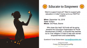 Dec. 1 Educate to Empower event will support Chinmaya Organization for Rural Development