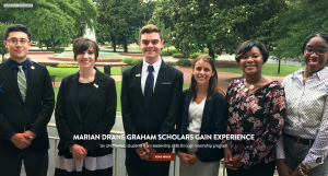 Walker College of Business Senior Khedema Robert, right, is one of six Marian Drane Graham Scholars