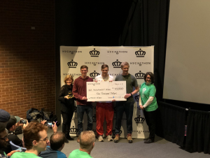 Appalachian students earn first place in 2018 Charlotte Hackathon (Photo by Pete Murphy)