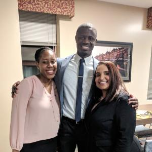 Rumbi Masamvu, Ndjo Shosola and Jamie Parson during the February 2018 Inclusive Excellence dinner