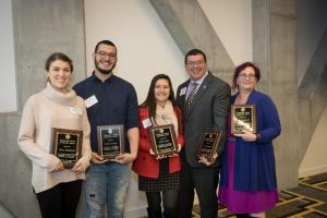 Aneisy Minerva Cardó, center, has earned Appalachian State University's International Graduate Student Award for 2018.