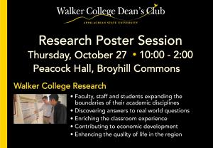 Dean's Club grant research poster session scheduled October 27