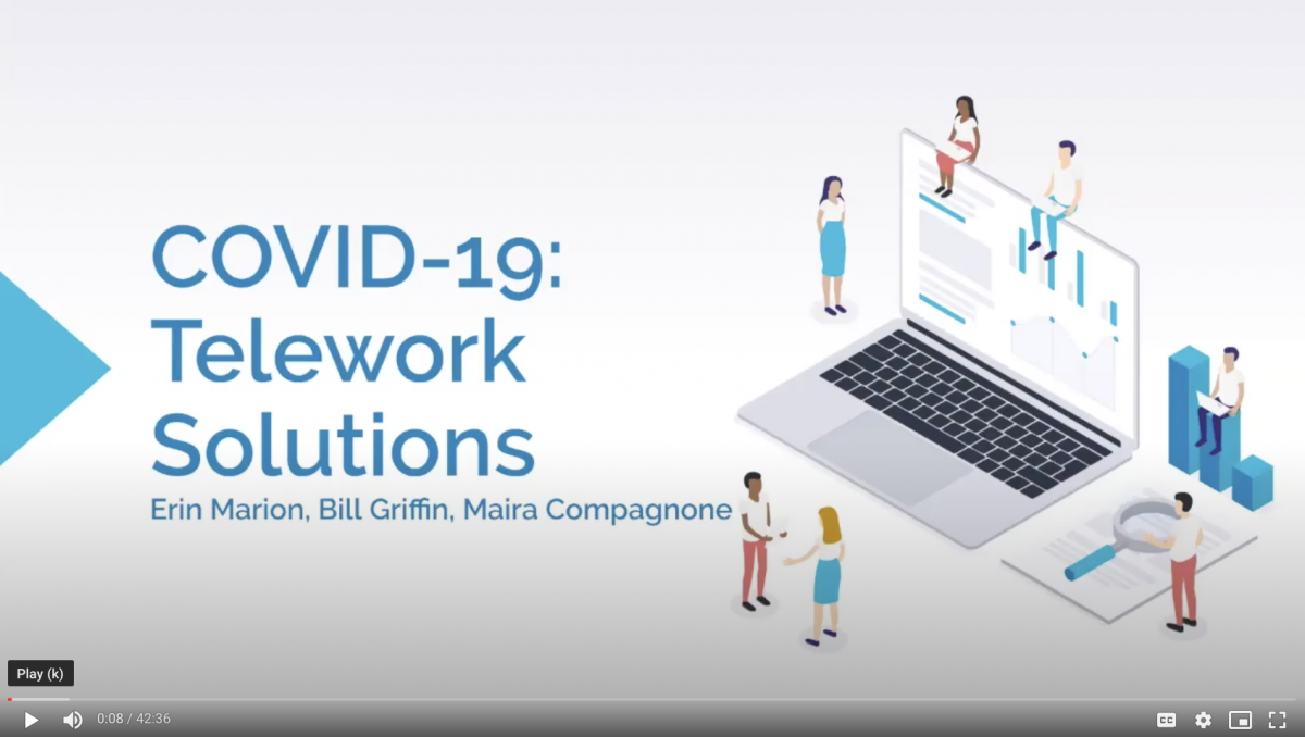 Telwork Solutions for COVID-19 Video Link
