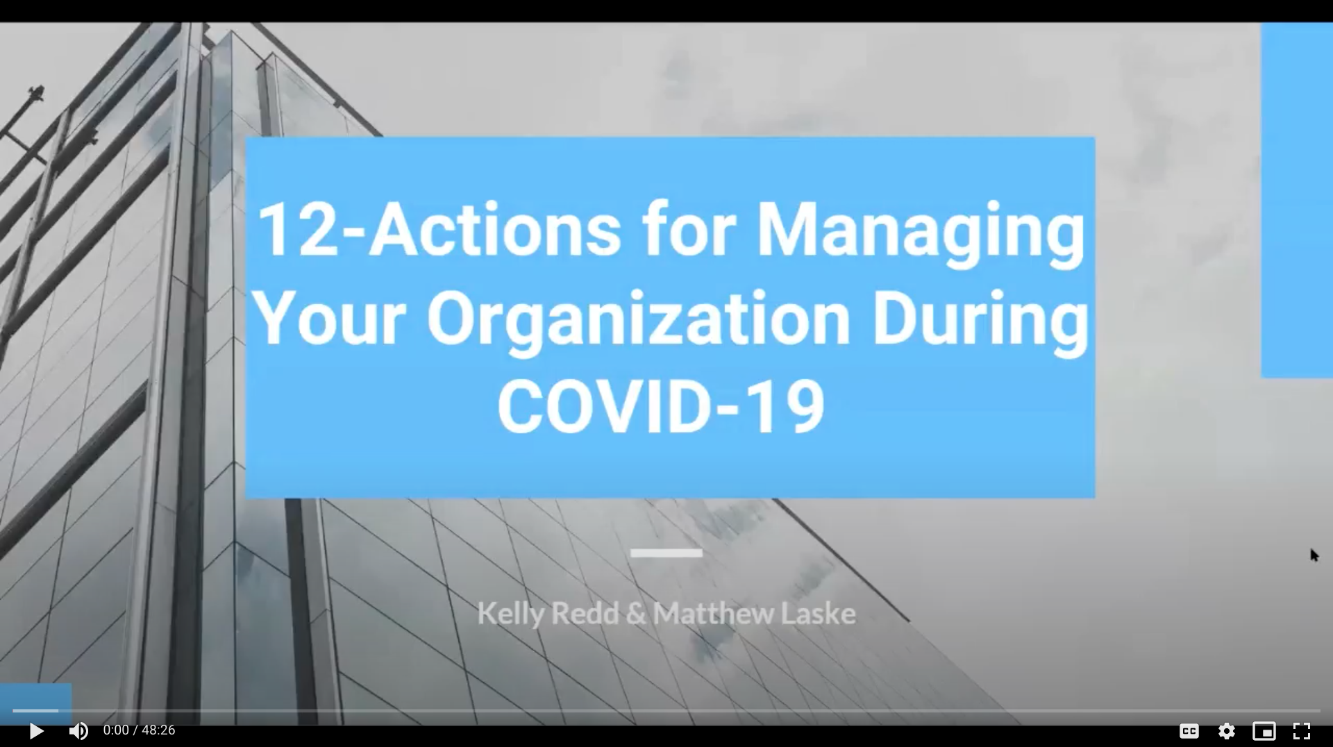12 Actions for Managing Your Organization During COVID-19
