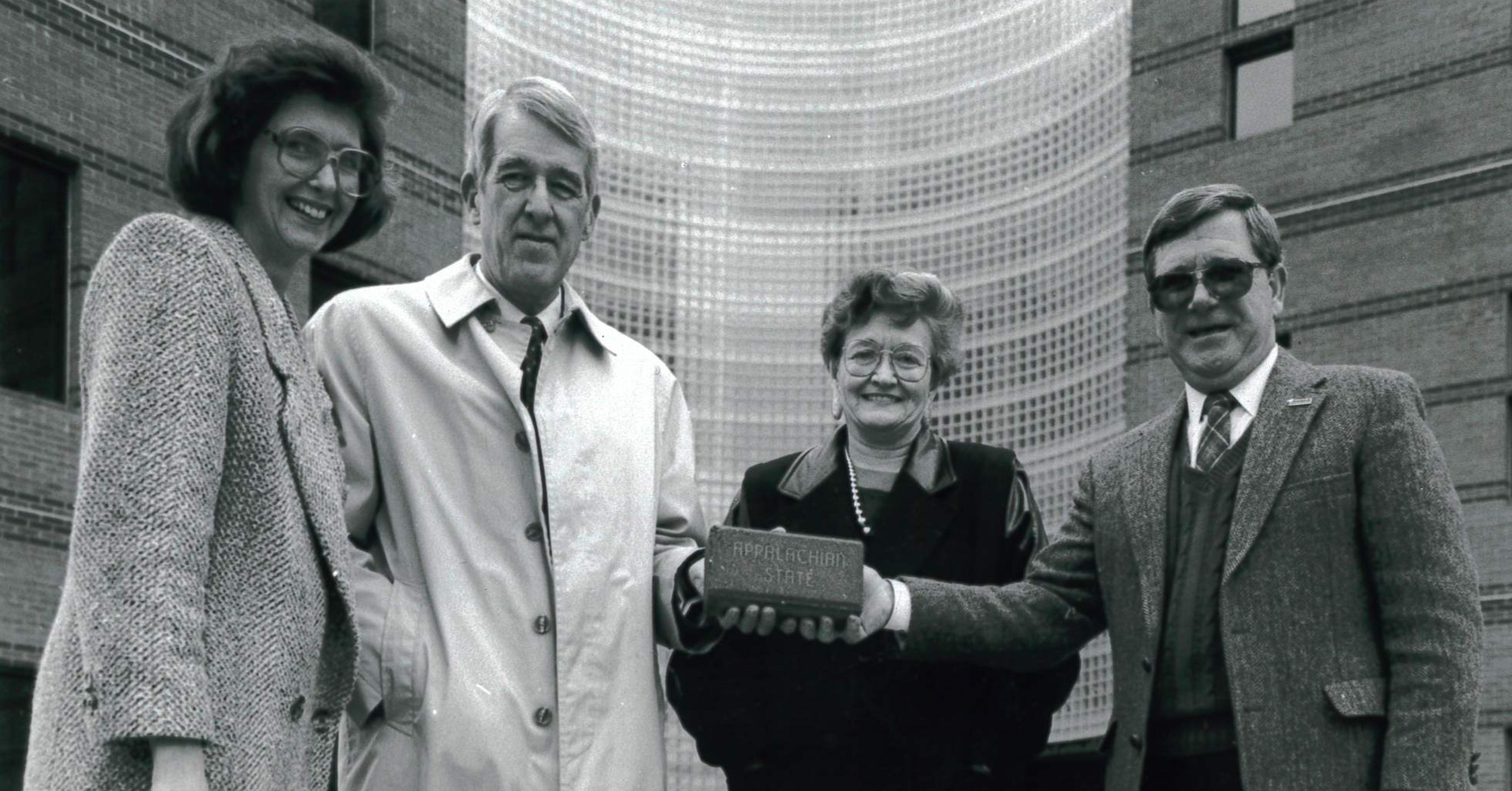Alumni Wall - Brick Campaign - Dean Davis, second from left