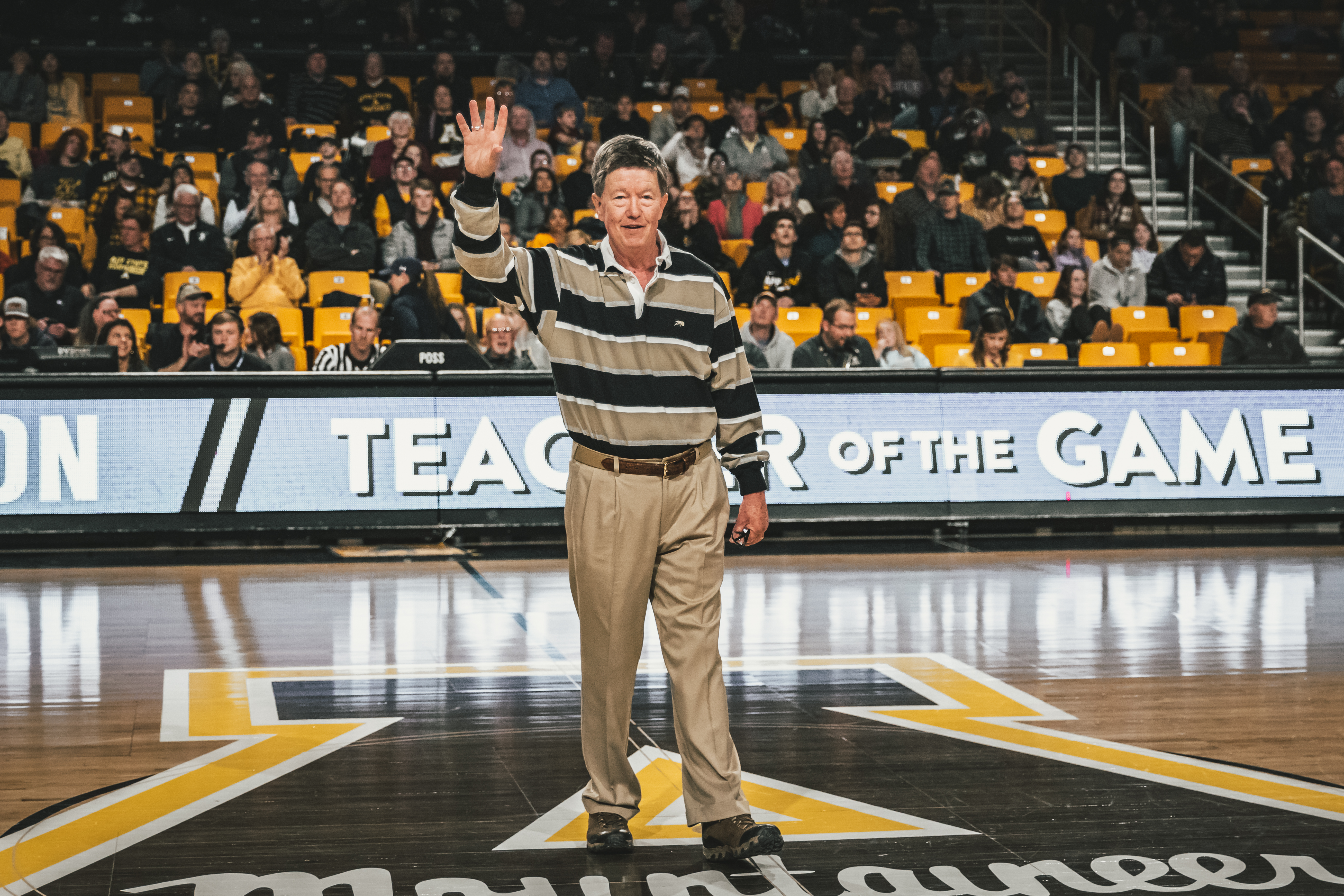 Teacher of the Game Dana Clark at App State's February 8, 2020 Basketball Game